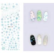【工場直販 激安】1枚 ネイルシール 雪/星/蝶結び デコネイル用品 パーツ ネイルアート