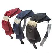 ファッションシリーズ グログランリボン カチューシャ 大 でかリボン 012