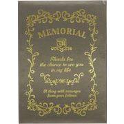 現代百貨 メモリアルメッセージブック ギフト (L) ブラウン