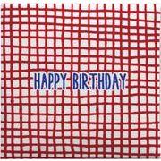 現代百貨 ミニ メッセージブック HAPPY BIRTHDAY レッド