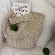 新作 レディース 手提げバッグ バッグ ニット ショッピング 毛糸 ファッション