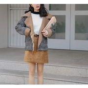 コート 裏起毛 チェック柄 ファッション 全2色 r3001789