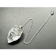 【パワーストーン】 【ヒマラヤクォーツ】 天然水晶 原石ペンデュラム ダウンジングシート付き