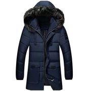 秋冬メンズコート ファーとフード付け カジュアル トップス防寒 おしゃれ ファッション♪全5色