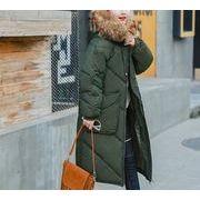 ダウンジャケット 無地 モコモコネック 毛襟 フード付き 韓国風 ファッション 全4色 r3001930