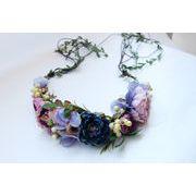 造花ヘッドドレス カラフル花かんむり