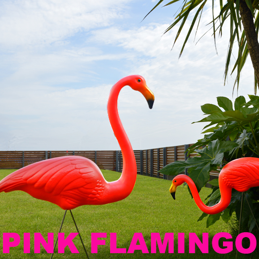 ガーデンオブジェ「PINK FLAMINGOS」