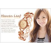 エレガント♪レディース腕時計☆ジルコニア フェイス ハートブレス クォーツ HL-1510