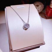 シルバー925 ネックレス レディース シンプル大粒石付き