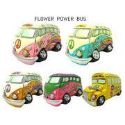 【FLOWER POWER BUS 】 フラワーパワー バス バンク 【貯金箱 アメ雑 ヒッピー】