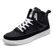 男 靴 冬の靴 秋 新しいデザイン キャンバスシューズ アッパー高い カジュアルシューズ