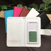 ★手帳型スマホケース(光沢/全5色) ★スライド式でほぼ全機種対応★【3サイズ】4-5.3インチ