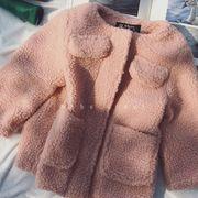 キッズ洋服 冬服 新しいデザイン 韓国風 女児 単一色 ダブルポケット 子羊ウール 裏起