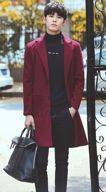 ラシャコート シングルボタン ロングコート チェスターコート ビジネス 韓国風ラシャ メンズファッション