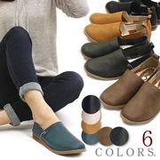 【再販売】【再入荷】フラットシューズ 靴 レディース 歩きやすい オニグリ スクエアトゥ フェイクレザー
