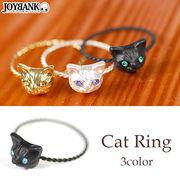 【決算セール】 見つめるキャットリング【ネコ猫/指輪/アクセサリー】