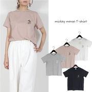 ☆春夏SALE☆T/C天竺 ミッキー刺繍ポケット Tシャツ (26370)