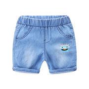 日 セール 児童 デニム ショートパンツ 薄いスタイル 赤ちゃんのズボン 中 パンツ キ