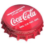 エンボスメタルサイン COCA COLA COKE BOTTLE CAP