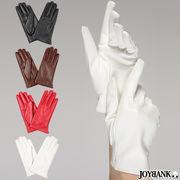 フェイクレザーショートグローブ(指先長め)【手袋/コスプレ】