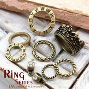 "▼SALE▼★L&A Original Parts★金古美&K16GP★ハンドメイド用★チャーム58 ""Ring""series"