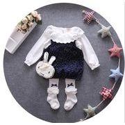 春 子供服 ワンピース+tシャツ 女の子 2点セット ファッション
