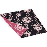 京の両面 おもてなし 綿小ふろしき 桜 消炭色 KRK05-A【取寄品】
