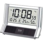 セイコー ハイブリッドソーラー 電波置時計 SQ690S