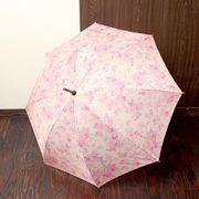 【セール】【雨傘】ワンタッチ開閉タイプ ローズ傘