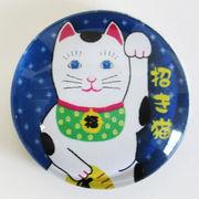 日本製マグネット大 招き猫 ガラスマグネット