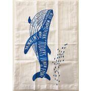キッチンクロス/クジラ 約35x50cm(ふきん・クロス)