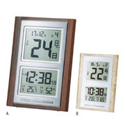 (クロック/ウォッチ)(ウェザー/カレンダー時計/温湿時計)デジタル日めくり電波時計 NA-101