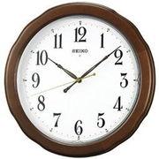 SEIKO セイコー 掛け時計 電波 アナログ 木枠 茶木地 KX326B