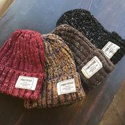▼MAGGIO▼【ナチュラルで可愛らしい】軽くて着心地の良いふんわり素材♪ ミックスカラー編みニット帽