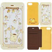 ポムポムプリン iPhone7/6s/6対応フリップカバー ポムポムプリン SAN-740PN