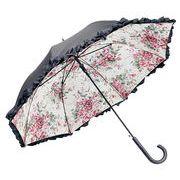 【お仕入れ12000円で送料無料♪♪】【フリルジャンプ傘】10種