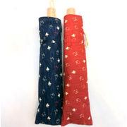 【日本製】【晴雨兼用】【折りたたみ傘】ムラ染クロス日本伝統の柄・単色和調小千鳥晴雨兼用折畳傘