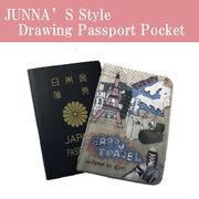 Drawing Passport Pocket ポスポートカバー パスポートケース