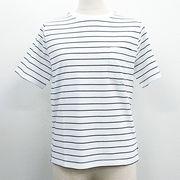【2018春夏新作】20/-天竺 ポケット付き UネックTシャツ(無地)