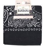 バンダナ(ブラック)53×53cm 35-305
