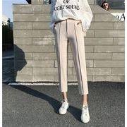 パンツ スリム 純色 通学 カジュアル 全2色 #710484