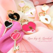 "L&A Original Parts★K16GP★ハートのカギチャームで愛を確かめて♪76""lovekey & lovelock"""