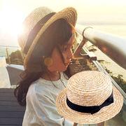 格安!INS人気キッズ◆親子麦わら帽子◆ストローハット◆UV対策◆日よけ◆ボーラーハット◆サンバイザー