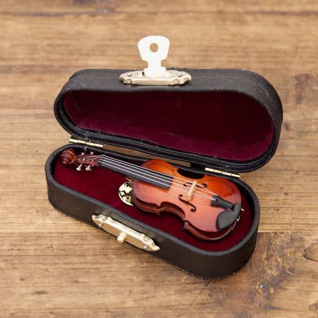 ピンバッチ♪ミニチュアバンド ピンバッジ バイオリン♪