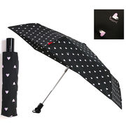 【PERSON'S】[55cm]安全ストッパー付き自動開閉折りたたみ傘 耐風仕様 レディース 婦人