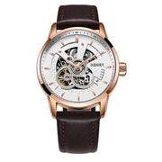 送料無料 OB メンズ スケルトン ビジネス 自動巻き 腕時計 ob-3