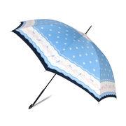 [58cm]傘 婦人傘 ジャンプ傘 レディース 鳥柄