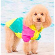 犬服 夏 薄手 切り替え UVカットTシャツ 日焼け防止 XS-XL ペット服 ペット用品