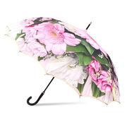[60cm]傘 レディース 16本骨傘 サンフラワー骨 ジャンプ 花柄