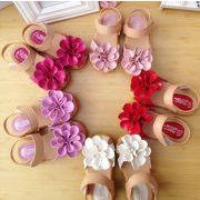 【値下げ・オススメ】子供サンダル  キッズ 靴 130-180mm 女の子 ぺたんこ 夏物 花柄